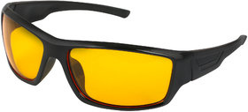 THEWHOOP Unisex UV Protected Day and Night HD Vision Anti-Glare Goggles Sports Driving Sunglasses,Free Size(11059,Yellow