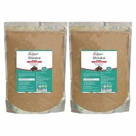 Way2Herbal Shikakai Powder - 1 kg Value Pack of 2