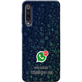 Cellmate Whatsapp Digital UV Printed Designer Soft Silicone Mobile Back Case Cover For Redmi 9