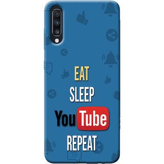 Cellmate Youtube Digital UV Printed Designer Soft Silicone Mobile Back Case Cover For Samsung Galaxy A70