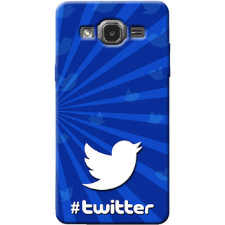 Cellmate Twitter Digital UV Printed Designer Soft Silicone Mobile Back Case Cover For Samsung Galaxy J2 (2015)
