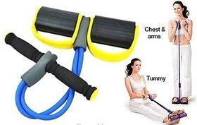 HD MART Tummy Trimmer Ab Pull Exerciser Resistance Tube Ab Exerciser