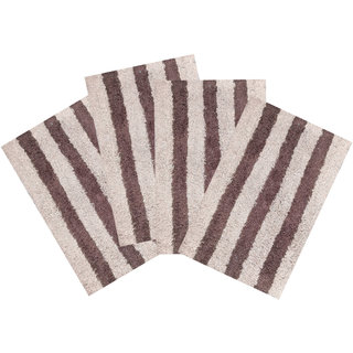 SHF Door Mat cotton for Home Set of 4 piece 40x60 cm multicolor