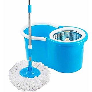 TAVISH  360Spin Mop Rotating Pole Bucket No Foot Pedal with 2 Microfiber Heads