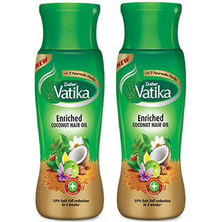 Dabur Vatika Enriched Coconut Hair Oil 75ml Pack Of 2