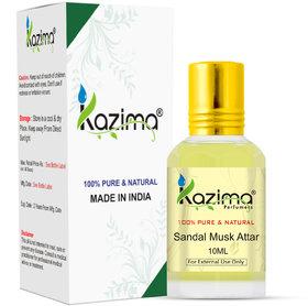 KAZIMA Sandal Musk Attar Perfume For Unisex - Pure Natural (Non-Alcoholic)(10ml)