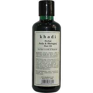 Khadi Herbal Amla Bhringraj Hair Oil - 210ml