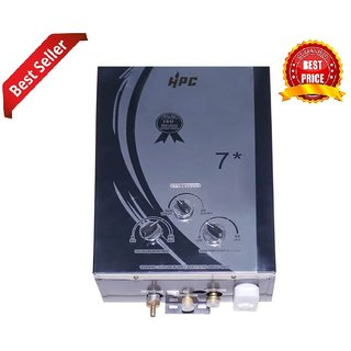 HPC Diamond Prince 7 Ltr Instant LPG Gas Water Geyser with Copper Tank Anti Rust Coating (Multicolor)