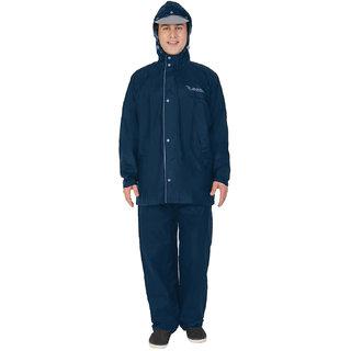 Zeel Gents Plain Blue Rain Suit , Coat, Jacket, pant for Mens size-L, XL, 2XL, 3XL, 4XL, 5XL