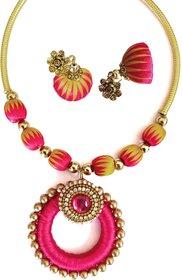 Queen's Love zigzag silk thread jewellery set