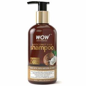 WOW Coconut Milk No Parabens, Sulphate, Silicone, Salt  Color Shampoo, 300mL