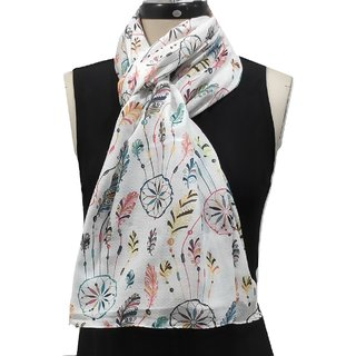 Cailin Women's Soft Digital Printed Scarves and Stole Size 70x180cm