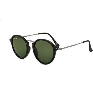 Royal Son Round Green Sunglasses For Men Women Stylish - (Unisex Latest Wayfarer Goggles)