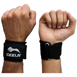 Ceela Sports Adjustable Wrist Support - 1 Pair (Black)