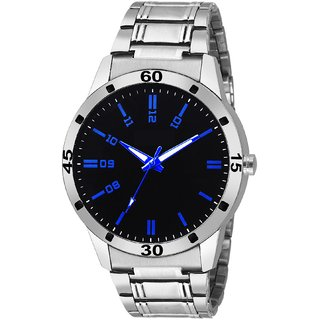 29K Analog Beautiful BlackBlue Day and Date Mens Watch