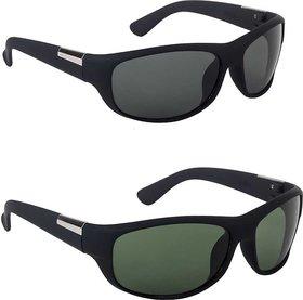 Combo of 2 Black wrap around Sunglasses