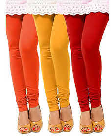 Pack of 3 Leggings - Orange, Yellow n Red