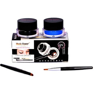Music Flower Long Wear Gel Eye Liner(Black,Blue) 3 g.