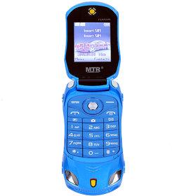 MTR Farari Car Shaped Flap Dual Sim  1.77 Inches(4.49 Cm) Feature Phone