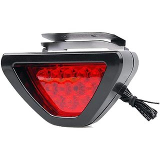 De-Autocare Universal All Car Luxury Decorative Led Triangle Brake External Lights Reverse Lamp Tail Flash Light Led