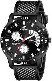 Espoir Analogue Quartz Black Dial Stylish High Quality Boy's and Men's Watch - BlackStromTyre