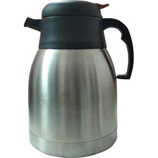 Vacuum Flask for Tea/Cofee  Steel (1.2 Ltr) 1200 ml Flask  (Pack of 1  Silver)