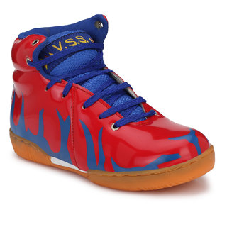VSS Mens RED Synthetic Leather Basketball Shoes