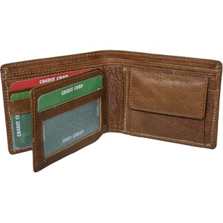 Nohunt Men Wallet Slim Front Pocket Card Holders 2 Compartments 2 pockets 5 card slots and 1 coin Bi-Fold Anniversary Birthday Christmas Gift Purse (color Tan)