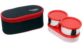 Skyedventures Black Rose 3 in 1 Black-Red Lunchbox