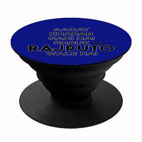 Homeeware Shauk Rajputo wale hai Phone holder ,Mobile Holder ,Plastic,Blue