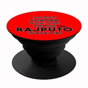 Homeeware Shauk Rajputo wale hai Phone holder ,Mobile Holder ,Plastic,Red