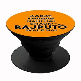 Homeeware Shauk Rajputo wale hai Phone holder ,Mobile Holder ,Plastic,Orange