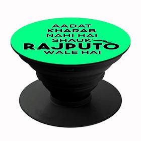 Homeeware Shauk Rajputo wale hai Phone holder ,Mobile Holder ,Plastic,Green