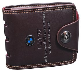 Y GREEN Men's Pu Brown Bi-fold Wallet