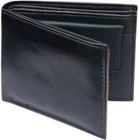 Black Single Fold Wallet For Men
