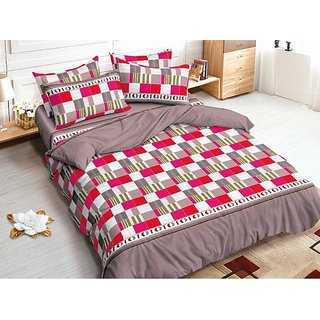 Amezing Glace Cotton Double Bedsheet Pack of 1 Size 90x100