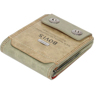Fashion Village Multicolor Leatherite  Bi-fold Wallet for Men (Synthetic leather/Rexine)