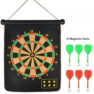 High Quality Big Size Foldable Magnetic Dart Game with 6 darts 17 inches