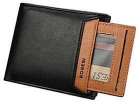 Bogesi Leather wallet, Stylish purse BOGESI721-1BLACKHORIZ