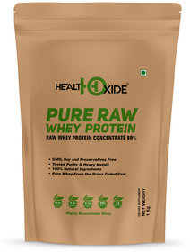 HealthOxide Whey Protein 80 (Raw  Unflavored / 27 G Protein per Serving)  1 Kg