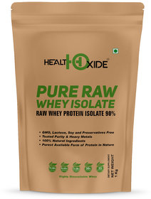 HealthOxide Whey Protein Isolate (Raw  Unflavored / 27 G Protein per Serving)  1 Kg