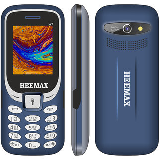 HEEMAX H7 (Dual Sim, 1.8 Inch Display, 1000 Mah Battery, 1 YEAR WARRANTY, Made In India )BLUE