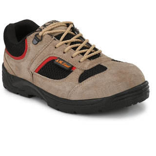 JK Steel Men's Chikko Leather Casual Safety Shoes