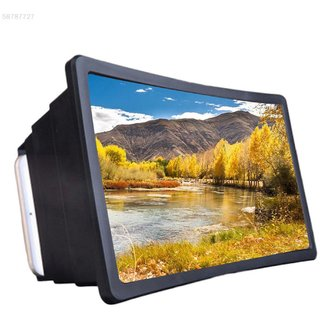 Tech Gear F2 Screen 3D Magnifier Enlarger Stand Holder Unique Foldable Box Shaped Magnifier Stand, Assorted