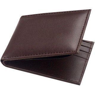 Unique Collections Brown Bi-Fold Leatherite Casual Wallets