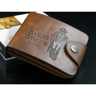 Fashlook Brown Leatherite Balini Casual Bi-fold Wallet