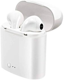 i7S TWS Twins Wireless Bluetooth Earphone with Mic Portable Charging Power Dock Compatible with All Android iOS Smar