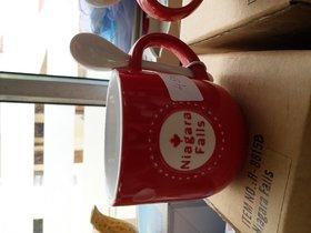 Niagara Falls Mug - Red w Spoon