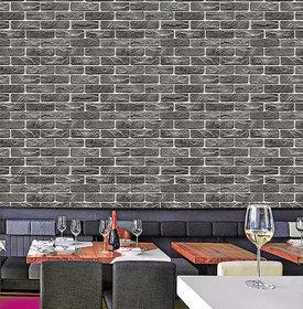 Wallter Brick Design Wallpaper Black Vintage Full 9.5 Meter Roll