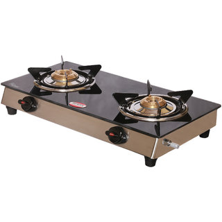 Surya Aksh 2 Burner Manual Gas stove with C.I. Burner